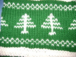 Close-up of Tree Pattern Knit Norwegian Style