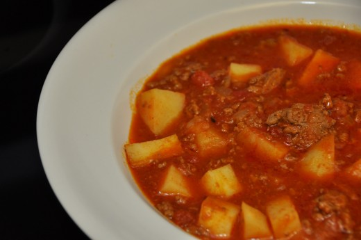 Hamburger Stew, one of my favorite meals