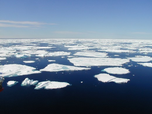 The Arctic Sea is an open water way now due to the melting ice-cap.