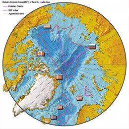 The Arctic Ocean is open to both the Pacific and Atlantic Oceans and now due the melting ice-cap is open to shipping.