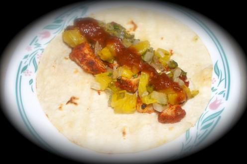 Homemade Tacos Al Pastor.