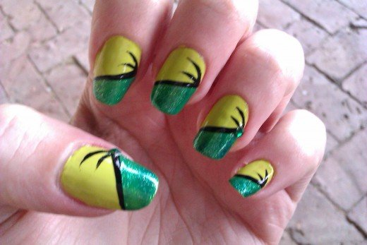 DIY Nail Art Designs: Simple and Easy Green Nail Ideas for Beginners
