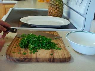 Chop 1/2 bunch cilantro.