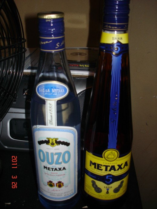 Greek spirits Ouzo and Metaxa are a deadly pair