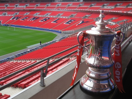 The F.A. Cup seen at Wembley stadium