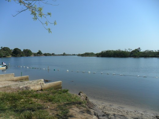 Swimming area,Tonalá River, Los Soldados