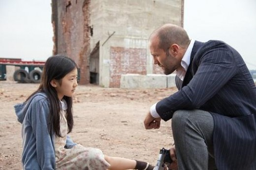 "Catherine Chan stars as Mei, a young girl with a gift for memorization and Jason Statham is an ex-cop who takes it upon himself to protect her from rival gangs in ""Safe""."