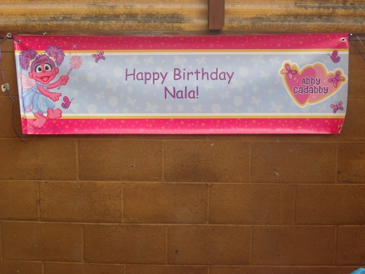 The personalized banner from BirthdayExpress.com was a nice touch as well.