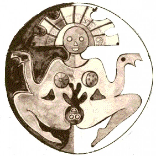 An image of Pachamama, the Andean deity representing mother nature.