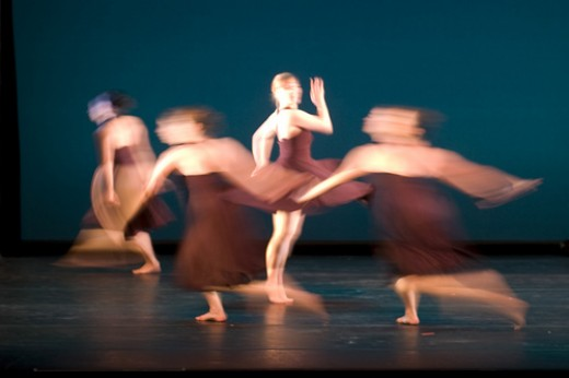 In Movement by Marco Sanchez - a slow shutter speed was used to capture the blur of the dancers' movements