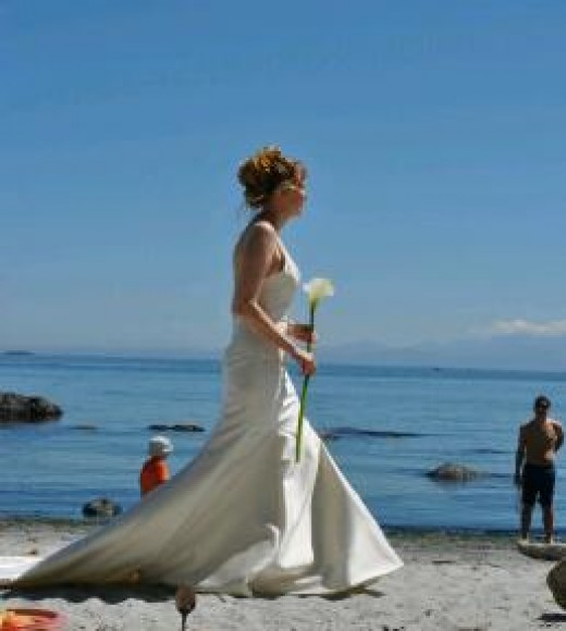 Beach Bride, East Sooke, Vancouver Island