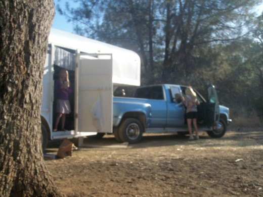 Our 35+ ft truck n trailer fit in the campsite with room to spare!