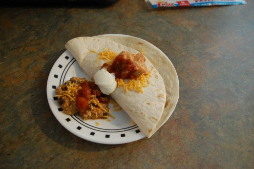 I also used the dip as a taco filling and a side dish