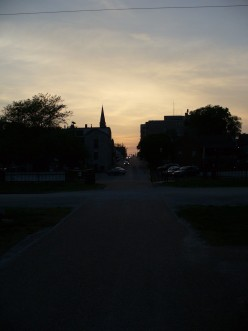 What it looks like toward the evening at the park.