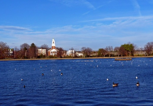 A beautiful Lake at Byrd Park in Richmond Virginia