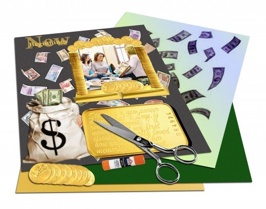 Make money from your scrap-booking talents and turn them into a scrapbooking business.