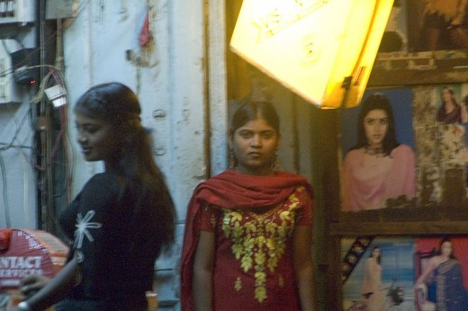 Child prostitutes in Mumbai. This kind of slavery is on the rise in Western countries as well.