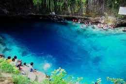 One of the swimming areas at Enchanted River near entrance