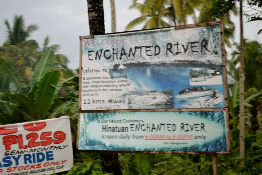 The sign entering Enchanted Rivers