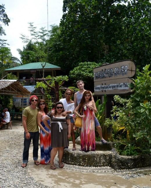 Our group arriving at Enchanted Rivers