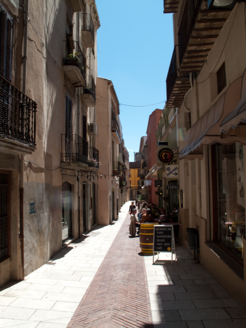 One of the many backstreets of Figueres to explore.