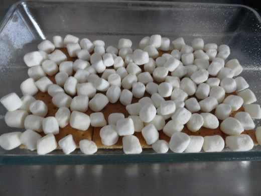 single layer of marshmallows