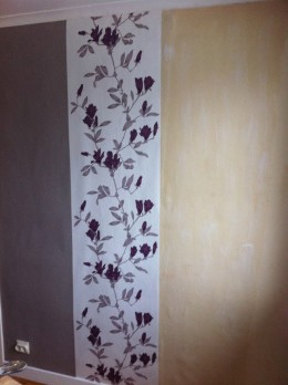 This type of pattern can work really well as a single length on a wall!