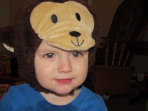 Jacob playing dress up