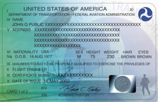 A U.S. pilot's certificate.