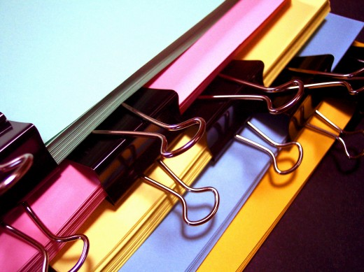 Colorful Office FIle Folders
