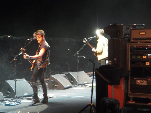 Kings of Leon (backstage pic I took)