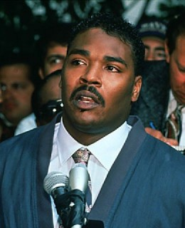 Rodney King on TV Making a Plea for Peace