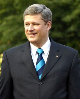Stephen Harper, Prime Minister of Canada. Canadian healthcare has been used as both the positive and negative role model for what American healthcare should be.