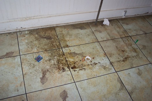 The condition of one of our rentals when the renters moved out!