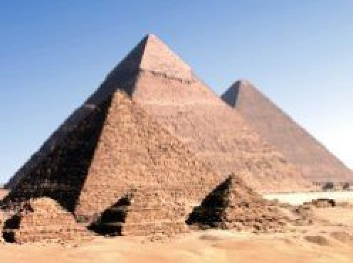 Three largest pyramids at Giza, Egypt