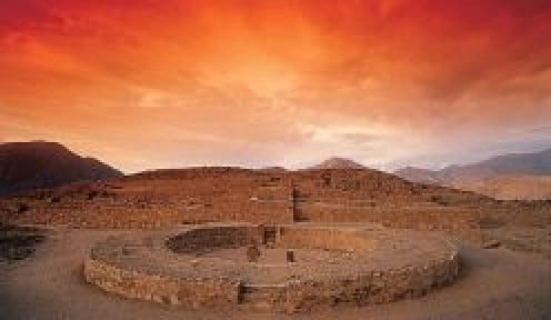 Caral at sunset