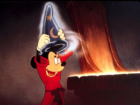 Mickey in Fantasia his first feature length film.