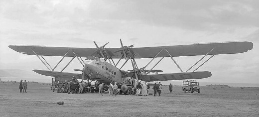 A Handley Page H.P.42 G-AAUD aircraft as it was used by the Imperial Airways, circa 1931