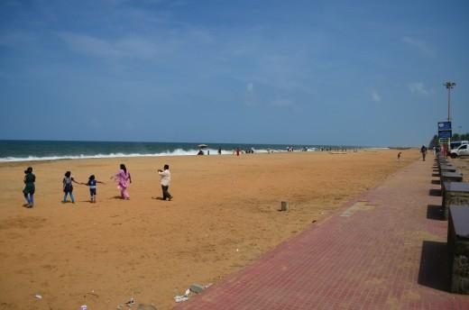 Footpath along the beach side