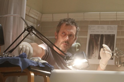 House performing surgery on his own leg