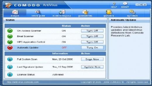 Comodo: One of the top ten antivirus