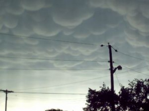 A storm capable of producing a tornado has unusual clouds which may be a greenish colour