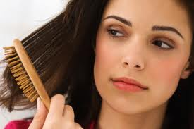 Brush your hair only a few times not alot in order to take care of it good.