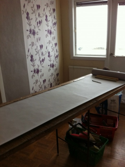 Wallpapering can be so easy and fun!