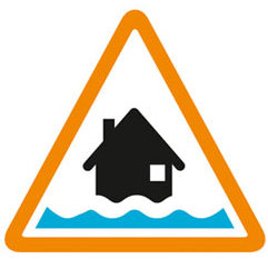 [Amber Alert Flooding] is possible. Be prepared. Signs courtesy of  environment-agency.gov.uk