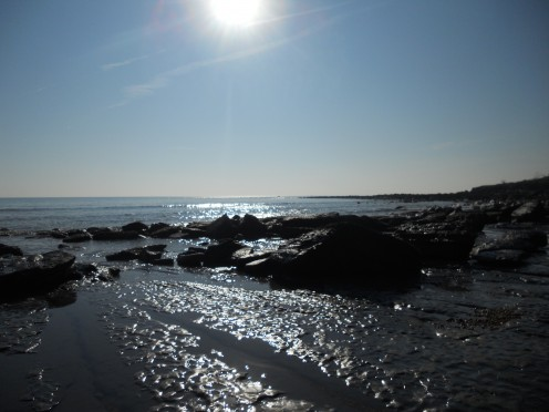 Looking west from Seatown beach, Dorset