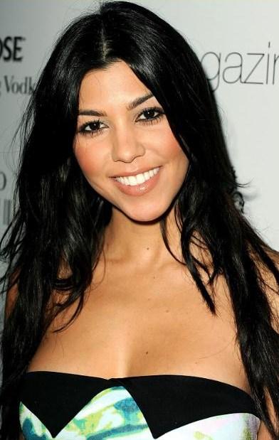 Kourtney Kardashian's Eyes, Lips, and Face Makeup