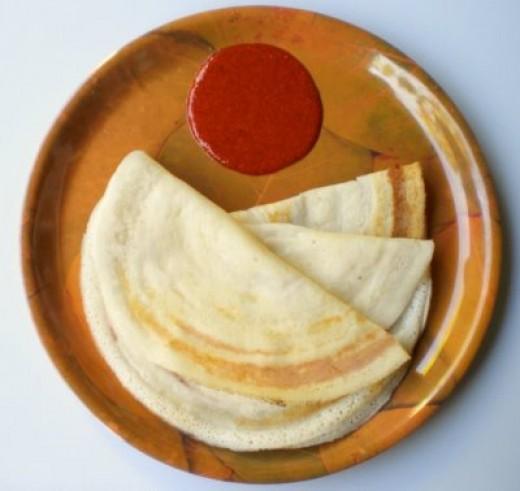 Dosa  (Dosay) – Vegan pancake