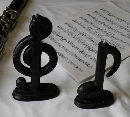 The Candle:  Midnight Magic Scented Music Candles