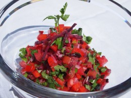 Beetroot, Tomato and Red Bell Pepper Salad